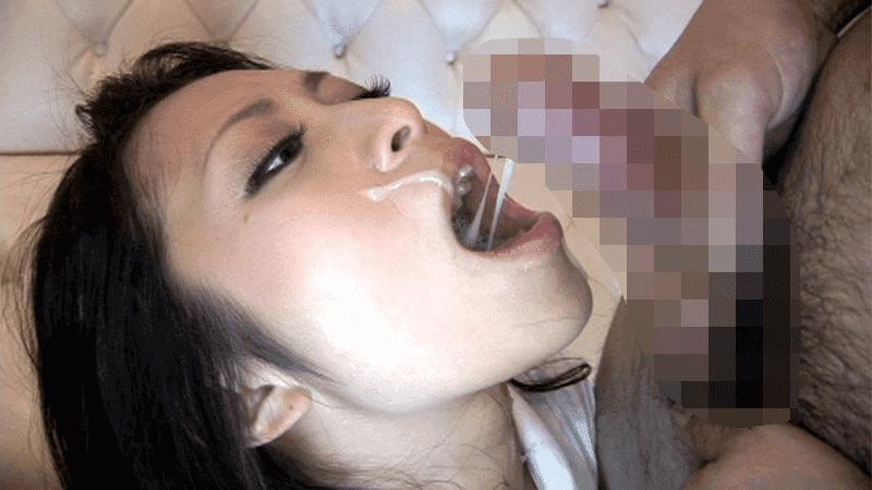 「丸呑み!5 喉でイク女! 国見奈々」粘つく精子を口にそそぐ