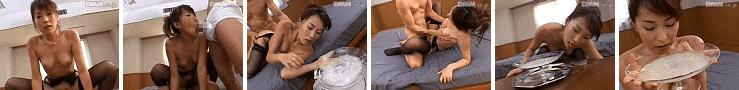 「ゴックン163連発!! 小泉キラリ」大皿ザーメン溜め飲み