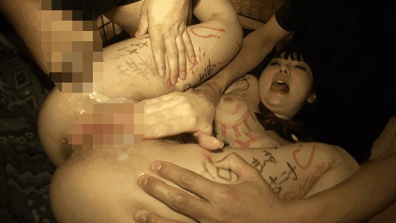 「ごっくんザーメン中毒少女 入山千春」マンコめがけて射精された精子を塗り込む